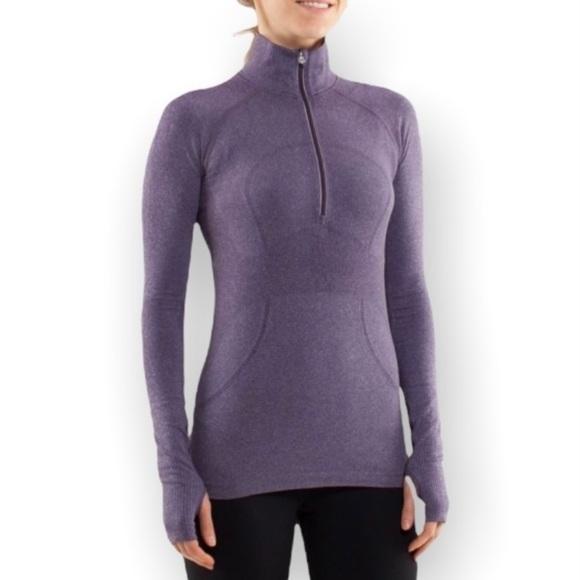 Lululemon Swiftly Tech 1/2 Zip Purple Size 12